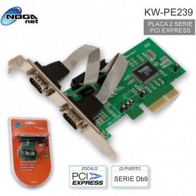 PLACA PCI-E 2 PUERTOS SERIALES NOGA KW-PE239