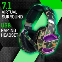 AURICULAR NOGA WARFARE 7.1 CAMUFLADO GAMER CON MICROFONO HEADSET GAMING PC PS4