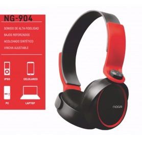 AURICULAR VINCHA NOGA NG-904 CELULAR MP3 RED AND BLACK