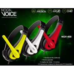 AURICULAR NOGA VOICE CON MICROFONO GAMING NGV-400 HEADSET PC GAMER