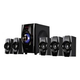 PARLANTE NOGA NIZA MULTIMEDIA HOME THEATER 5.1 BLUETOOTH USB FM CONTROL REMOTO LED