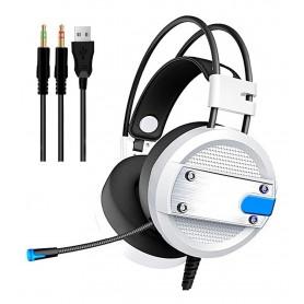AURICULAR GAMER A10 BLANCO PS4 PC XBOX FLEXIBLE COMODO CON MICROFONO HEADSET GAMING