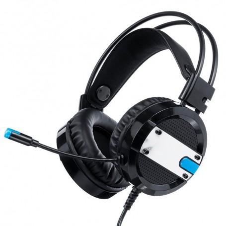 AURICULAR GAMER A10 NEGRO PS4 PC XBOX LUZ LED FLEXIBLE COMODO CON MICROFONO HEADSET GAMING