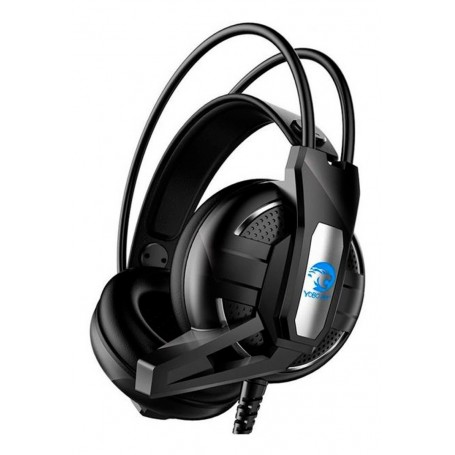 AURICULAR GAMER A12 NEGRO PS4 PC XBOX LUZ LED HEADSET GAMING CON MICROFONO CONTROL VOLUMEN