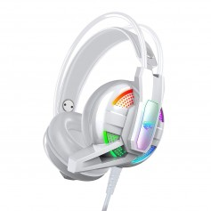 AURICULAR GAMER A12 BLANCO PS4 PC XBOX LUZ LED HEADSET GAMING CON MICROFONO CONTROL VOLUMEN