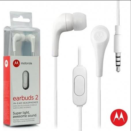 AURICULAR IN EAR MOTOROLA MANOS LIBRES EARBUDS 2 3.5MM BLANCO