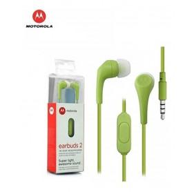 AURICULAR IN EAR MOTOROLA MANOS LIBRES EARBUDS 2 3.5MM LIMA