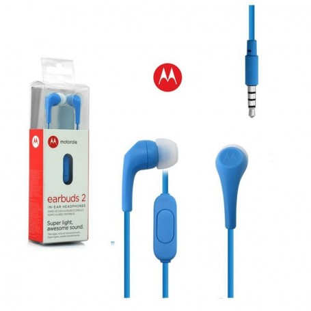 AURICULAR IN EAR MOTOROLA MANOS LIBRES EARBUDS 2 3.5MM AZUL