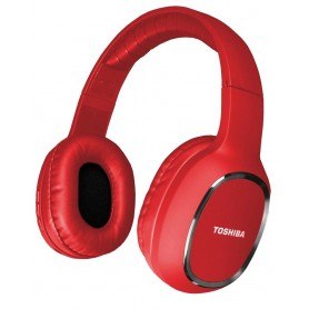 AURICULAR TOSHIBA STICK SERIES BLUETOOTH RED 12HS BATERIA 26FT WIRELESS HEADPHONES STEREO