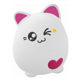 VELADOR LED GATITO SILICONA LAMPARA RECARGABLE LED NOCHE RECARGABLE USB