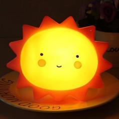 LAMPARA DECORATIVA SOL CON LUZ LED VELADOR NOCHE BEBE