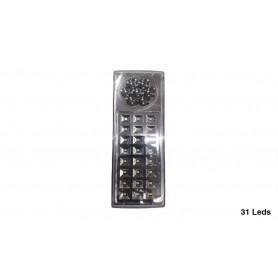 LUZ DE EMERGENCIA 31 LEDS DOS INTENSIDADES RECARGABLE LAMPARA PORTATIL SWL-30
