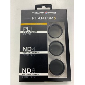 KIT 3 FILTROS DRONE DJI PHANTOM 3 PL1 POLARIZADO ND4 NEUTRAL NEUTRAL ND8 POLAR PRO
