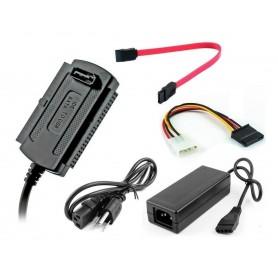 ADAPTADOR SATA IDE 3,5 2,5 A USB NOGA 3.0 CON FUENTE