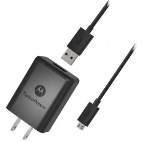 CARGADOR MOTOROLA TURBO POWER 30 + CABLE MICRO USB CHARGER QUALCOMM 30W 3A