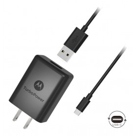 CARGADOR MOTOROLA TURBO POWER 30 + CABLE TYPE C CHARGER QUALCOMM 30W 3A