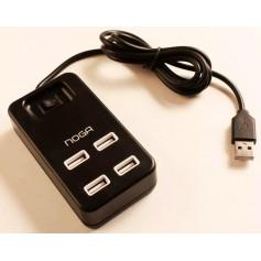 HUB USB 4 PUERTOS NOGA NGH-43 USB 2.0 HASTA 480MBPS BOTON ENCENDIDO