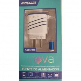 CARGADOR INOVA 12V 3.4A 2 PUERTOS CARGA RAPIDA CON CABLE TYPE C CHARGING CAR TIPO C