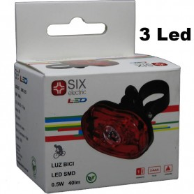 LUZ DE BICICLETA LED SMD 0,5W 40LM SIX ELECTRIC LUBI8058