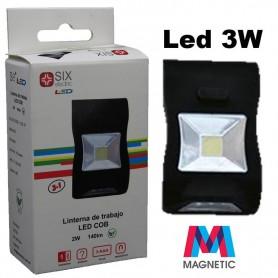 LINTERNA DE CAMPING LED COB 2W 140LM MAGNETICO SIX ELECTRIC LL6546