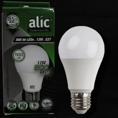 LAMPARA BULBO LED ROSCA E27 12W LUZ DIA ALIC