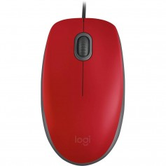 MOUSE CON CABLE LOGITECH M110 SILENT RED
