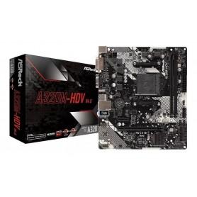 MOTHER ASROCK A320M-HDV R4.0 DDR4 HDMI DVI-D VGA PS2 SATA3 X4 M2 ULTRA USB 3.0 RYZEN AM4 APU A6 A8 A10 APU A6 A8 A10