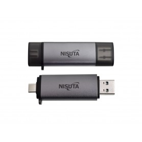 LECTOGRABADOR DE MEMORIA NISUTA TYPE C Y USB 3.0 MICRO SD SD NS-CRUC3