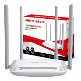 ROUTER WIFI MERCUSYS 4 ANTENAS 5 DBI BLANCO MW-325R 300 MBPS