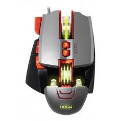 MOUSE GAMER NOGA SEKTOR METALICO CON LED RGB 3200 DPI FULL GAMING