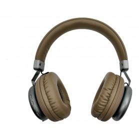 AURICULAR GTC BLUETOOTH VINTAGE STYLE MUSIC 7HS AUTONOMIA LECTOR MICRO SD BT 4.2 DORADO