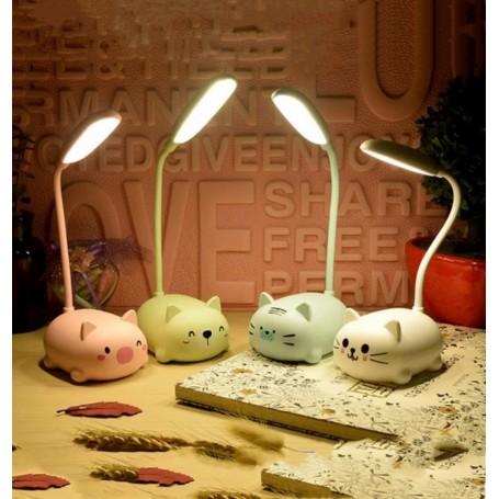 LAMPARA LED DE ESCRITORIO RECARGABLE ANIMALES COLORES VARIOS