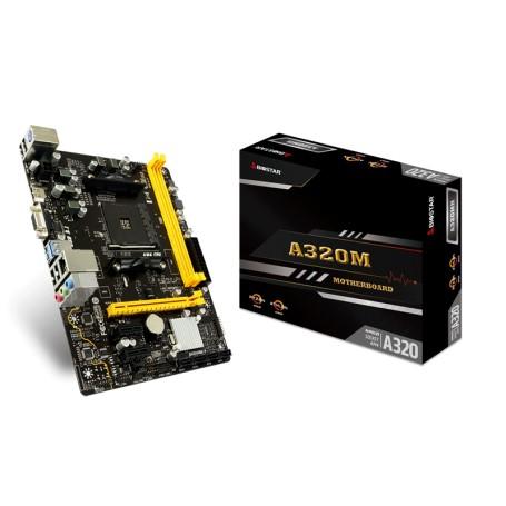 MOTHER BIOSTAR A320MH SOCKET AM4 2X DDR4 MICRO ATX Ryzen 1era 2da y 3ra Gen