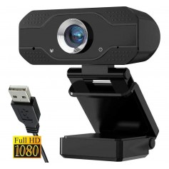 WEB CAM FULL HD 1080P USB CON MICROFONO VIDEO SKYPE ZOOM WIN 10/8/7/XP NAXIDO
