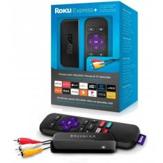 ROKU EXPRESS C/CONTROL REMOTO NETFLIX YOUTUBE HDMI Y RCA TV TUBO LED