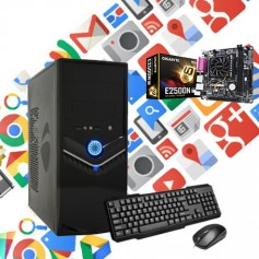 PC OFICINA ARMADA AMD E1 2500 DUAL CORE SSD 120GB 4GB DDR3 VIDEO ATI HS8240 PC 1