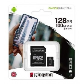 Memoria Micro Sd 128Gb Clase 10 Canvas Plus 100Mb/S Kingston U1