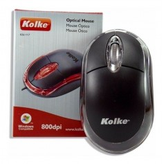 MOUSE KOLKE KM-117 CON CABLE USB LUZ LED
