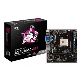 MOTHER AMD ECS A320 AM4 A320AM4-M3D HDMI USB 3.0 RYZEN APU