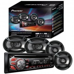 ESTEREO PIONEER + 4 PARLANTES DXT-X4869BT BLUETOOTH