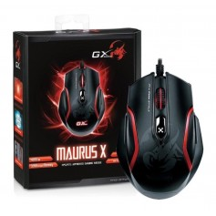MOUSE GAMER GX MAURUS X USB BLACK LINEA GAMING 4000DPI 32K