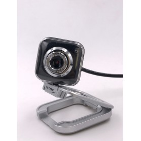 WEB CAM CAMARA WEB PC NETMAK MICROFONO 480P NM-WEB01 640X480 PLUG & PLAY USB + MINIPLUG COMPATIBLE CON WINDOWS Y MAC OS