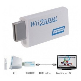 Adaptador Wii A Hdmi Y Audio 3.5Mm 720P 1080P Conectala Wii Por Cable Hdmi