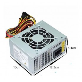 FUENTE SLIM MAGNUM TECH 230W MINI MICROATX 10X12.5X6.2CM EN CAJA CON CABLE DE TENSION