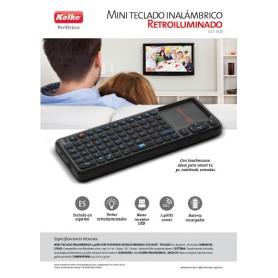 MINI TECLADO INALAMBRICO CON TOUCH MOUSE Y TECLAS RETROILUMINADAS SMART PC NOTEBOOK KET-1108