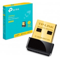 Placa Red Usb Tp-Link Tl-Wn725N Wireless Nano 150Mb Adaptador El Mas Peque√Ëo