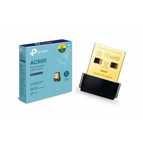 PLACA DE RED USB TP-LINK ARCHER T2U NANO AC600 DUAL BAND 2.4GHZ 200MBPS + 5GHZ 433MBPS