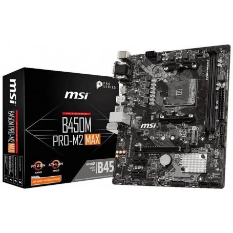 MOTHER MSI AMD B450M PRO-M2 MAX SOCKET AM4 RYZEN DDR4 HDMI USB 3.1