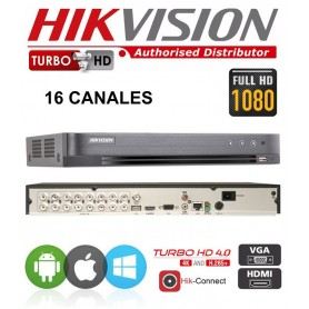 DVR HIKVISION 16 CANALES CCTV FULL HD 1080P + 2 IP MODELO DS-7216HGHI-K1 ALTA DEFINICION