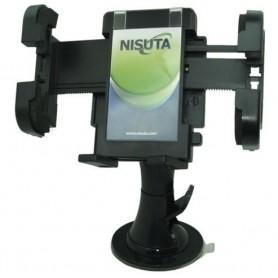 SOPORTE NISUTA UNIVERSAL CELULAR GPS PARA AUTO CON SOPAPA PARABRISAS 360 GRADOS NSSOGPS